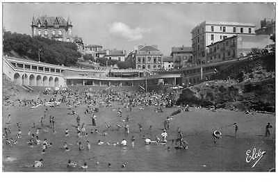 (Ph) New Cpsm-Photo 64 Biarritz *** La Plage Du Port Vieux 1956 ***