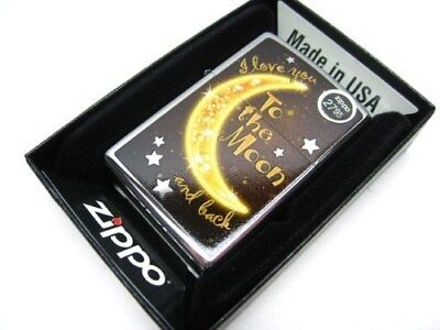 ZIPPO Full Size I LOVE YOU To The MOON And Back Classic Windproof Lighter! 29059