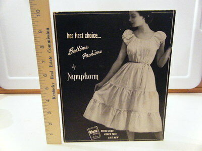 Vintage Stand Up Advertising For Rinso Nymphorm 1950's 10 X 8