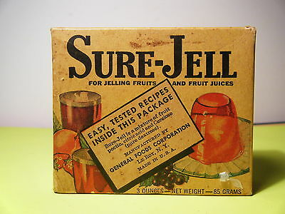 "Vintage 1940's ""nos"" ""sure-Jell"" Box (Unopened)"