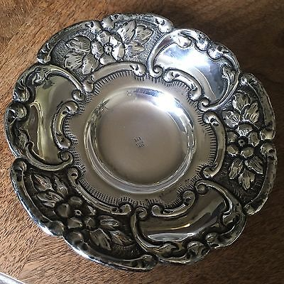 Antique Vtg Greek Sterling Silver Footed Bowl Repousse Dish 925 Xeipoe Not Scrap
