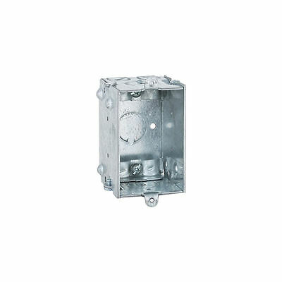 Raco 528 Gangable Switch Box, 1 Gang, 12.5 cu-in x 3 in L x 2 in W x 2-1/2 in D