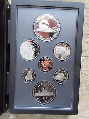 1986 Canada Double Dollar  Proof Set With Silver-Vancouver-Dollar
