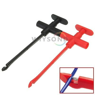 Insulation Piercing Clip Test Probe Hook Banana Jack Spring Loaded Cop