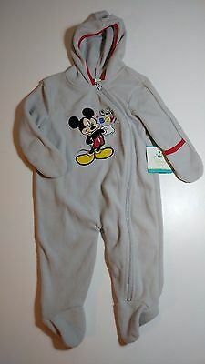 Disney Baby's size 3/6mo CUTE Mickey Mouse footed sleeper NEW!