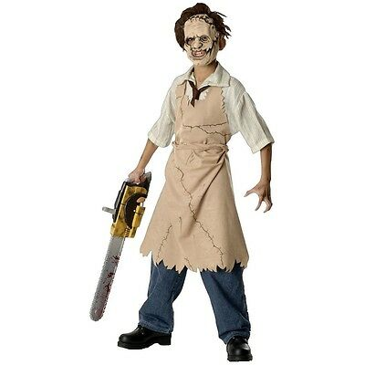 Leatherface Costume Kids Texas Chainsaw Massacre Halloween Fancy Dress