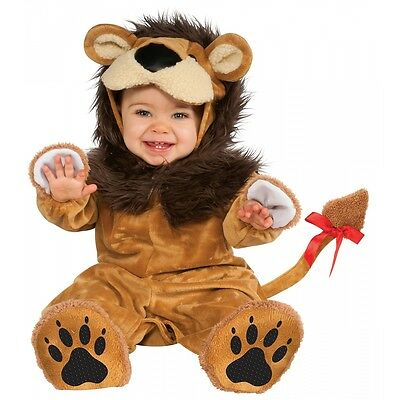 Lil Lion Costume for Baby Cute Cowardly or King Plush Halloween Fancy Dress