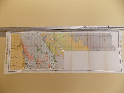 Antique 1902 Soil Map Grand Forks ND Arvilla Emerado Ojata Approx 39 X 15