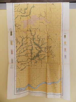 Antique 1902 Soil Map Lewiston Idaho Moscow Genesee Spalding Approx 17 X 27
