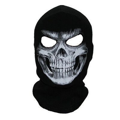 Balaclava Skull  Mask Motorcycle Bicycle Helmet 4Wd Snowboard Ski Paintball Fish