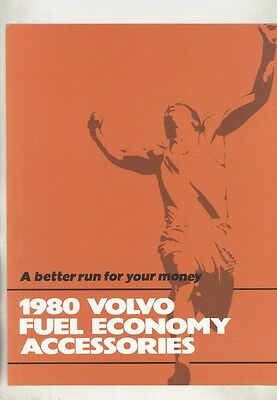 1980 Volvo Fuel Economy Accessories Brochure my7166
