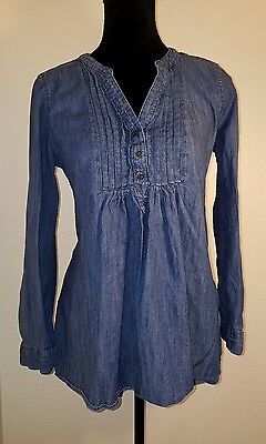 Motherhood Maternity Jeans Top Medium V Neck Long or 3/4 Sleeves Shirt Tunic