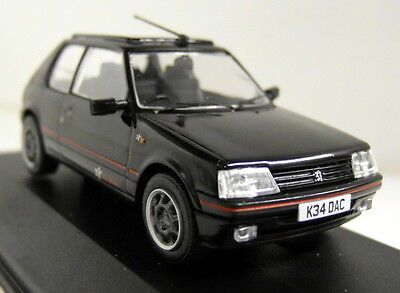 Vanguards 1/43 Scale VA12706B Peugeot 205 GTi 1.9 1FM Black Diecast model car