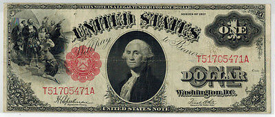 1917 $1 Legal Tender United States Note Fr#39, F-VF Condition