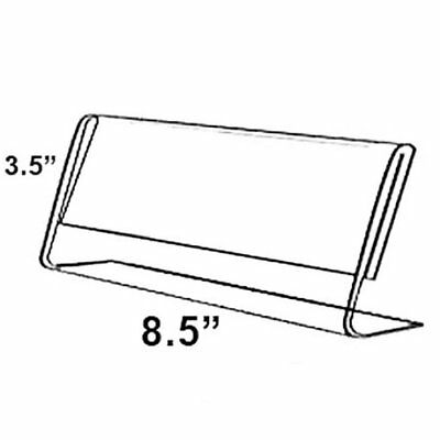 "Azar 8.5"" W x 3.5"" H L-Shaped Acrylic Sign Holder, 10/Pack (112761)"