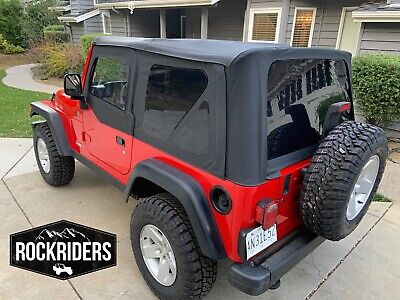 1997-2006 Jeep Wrangler Tj Black Soft Top + Upper Skins And Tinted Rear Windows