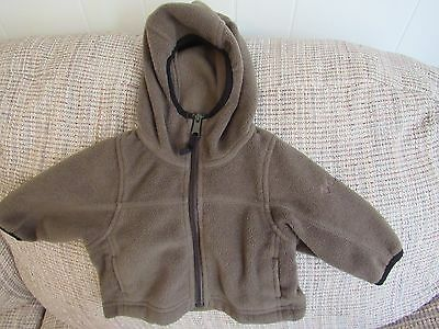 Infant Columbia Army Green Fleece Jacket Size 6-12 Months