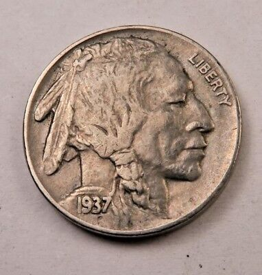 (1) 1937-D Buffalo Nickel // (AU) Almost Uncirculated // 1 Coin