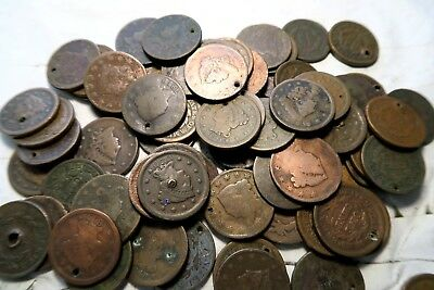 (1) 1800's Large Cent // Low Grade *WITH DATE* // Bust-Classic-Coronet-Braided