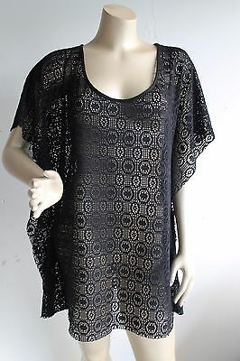 Motherhood Black Mesh Swim Swimsuit Coverup Tunic Top Dress Sz M