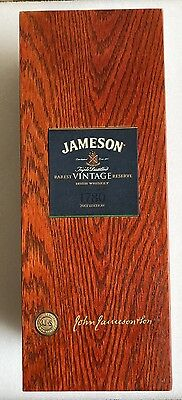 John Jameson Rarest Vintage Reserve Irish Whiskey 2007 Edition Wood Case RARE