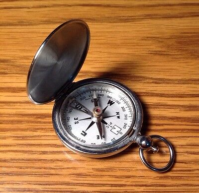 Vintage PIC Pocket Compass Made In Japan 1950's 60's H75