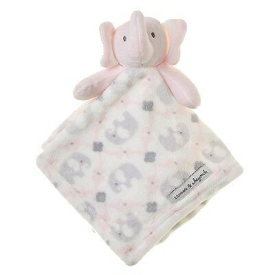 Blankets & And Beyond Baby Girls Damask Pink Gray Security Lovey Nunu Elephant