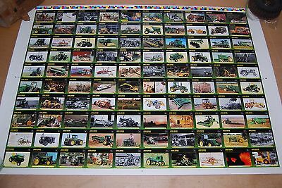 JOHN DEERE UNCUT COLLECTOR CARDS POSTER w/ NOLAN RYAN 28 X 40 Limited Edition