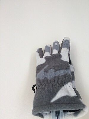 Boys Gray Gloves. Old Navy. Size S/M. Camouflage.