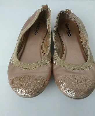 Gold Glitter Flats Sparkle Shoes Toddler Girls SIZE 12