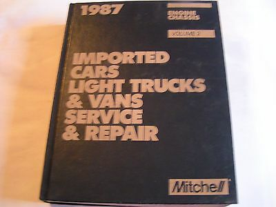 1987 Mitchell Imported Light Trucks & Vans Service Repair Manual