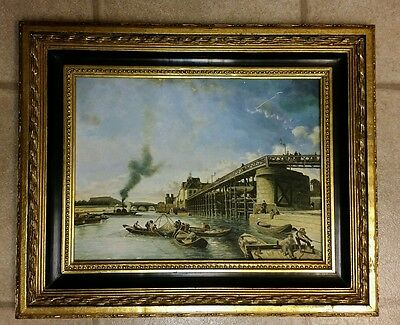 """NICE VINTAGE OIL BOARD PAINTING NOT SIGNED FRAMED 21 3/4"""" x 17 7/8"""""""