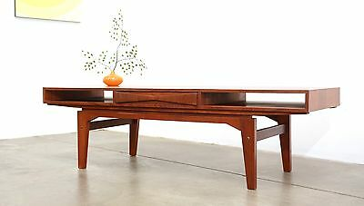 1960s Danish Modern EW Bach TEAK Coffee Table Mid Century Vintage Eames