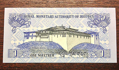 BHUTAN 1 Ngultrum rare  crisp uncirculated Foreign Banknote 2006