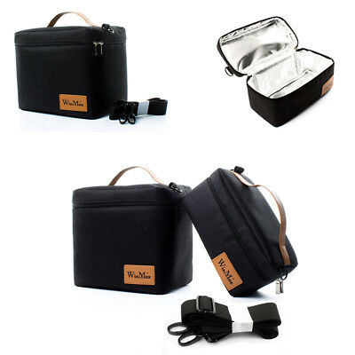 Insulated Lunch Bag Thermal Cooler Ice Picnic Food Safe Container Black