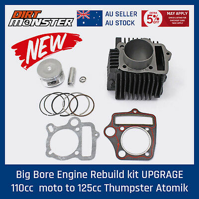 Big Bore Engine Rebuild kit UPGRAGE 110cc  moto to 125cc Thumpster Atomik Pitpro
