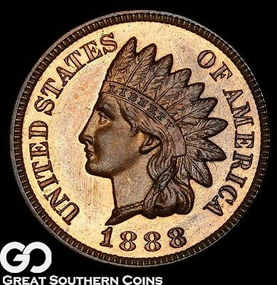 1888 Indian Head Penny PROOF, Outstanding Superb Gem PF++ RB * Gorgeous PR Look!