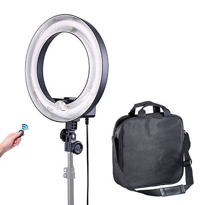 400W 5500K 34cm Undimmable Photo Video Fluorescent Circular Ring Light Lamp 120V
