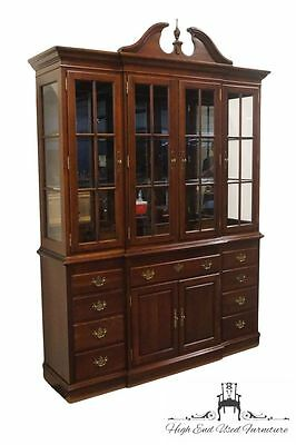 SOUTHWYCK Nathan Hale Solid Cherry 66″ Lighted Breakfront China Cabinet