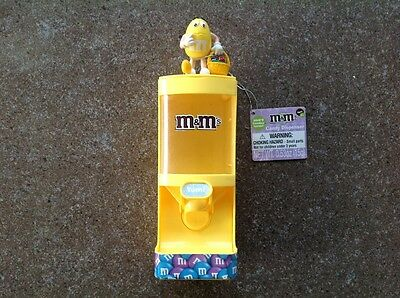 M&M's Toy Candy Holder And Dispenser Yellow.