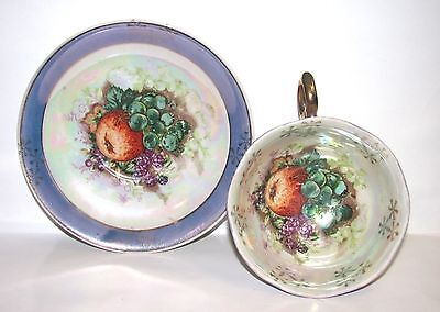 Japan Hand Painted Tea Cup and Saucer - Adorable