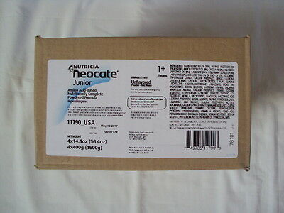 4 Cans Nutricia Neocate Junior Powder Formula Unflavored