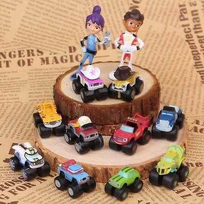 Set of 12 Blaze And The Monster Machines Figures Toy Cake Toppers New UK Gifts
