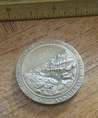1919-1969 Grand Canyon National Park 50th Anniversary Bronze Medal