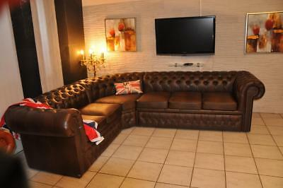 Ecksofa  Chesterfield Vitton  A1  290 x240 mit Schlaffunktion