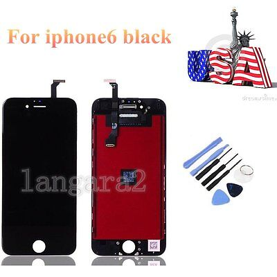 Replacement LCD Touch Screen Display Digitizer Assembly For iPhone6 4.7'' Black