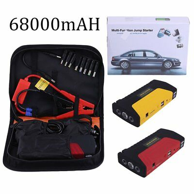 68000mah Portable Emergency Start Car Jump Starter Power Bank 3 Lights With BaVB