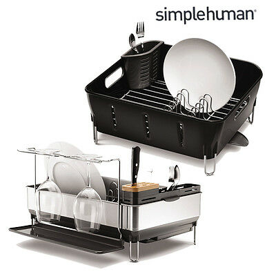 simplehuman Compact Dishrack Stainless Steel Tidy Kitchen Sink Drainer