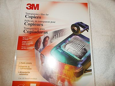 New! 3M Transparency Film for Copiers 75 sheets