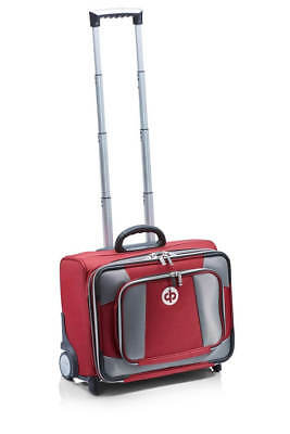 Drakes Pride - Low Roller Trolley Bag Maroon - Bowls Trolley with free Bowls Bag
